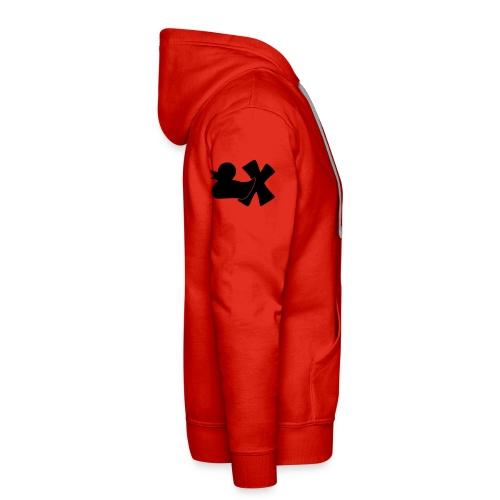 Ente mit X v3 3 klein - Männer Premium Hoodie