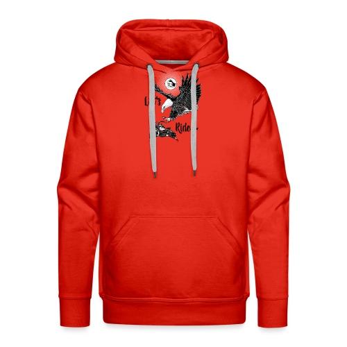 Baldeagle met een panhead - Mannen Premium hoodie