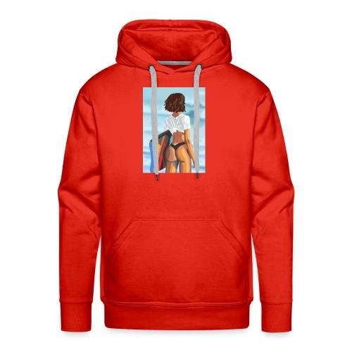 Pêche marine - Sweat-shirt à capuche Premium pour hommes