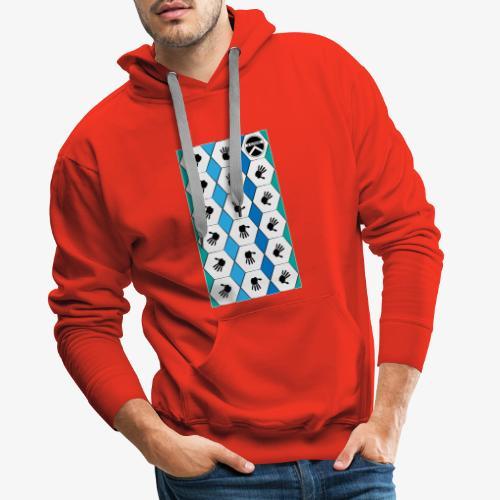 |K·CLOTHES| HEXAGON ESSENCE BLUES & WHITE - Sudadera con capucha premium para hombre