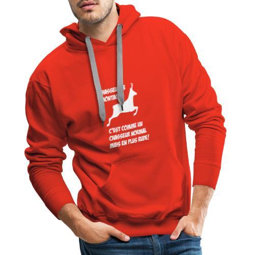 Chasseur de montagne (motif chamois) - Sweat-shirt à capuche Premium pour hommes