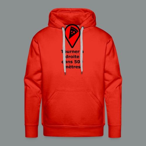 T-shirt Geek pizza - Sweat-shirt à capuche Premium pour hommes