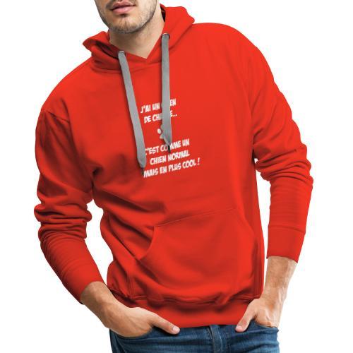 J'ai un chien de chasse... - Sweat-shirt à capuche Premium pour hommes
