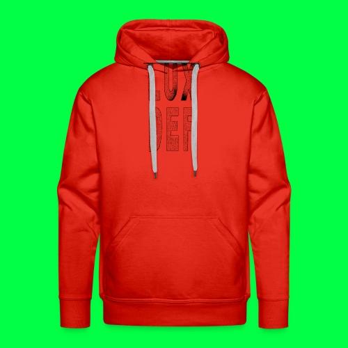 lux def: graphic brand logo design grafikdesign - Männer Premium Hoodie