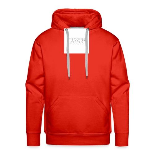 zwarte mok met tekst - Mannen Premium hoodie