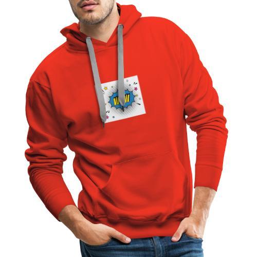 pop art star with wow message 24877 53429 - Männer Premium Hoodie