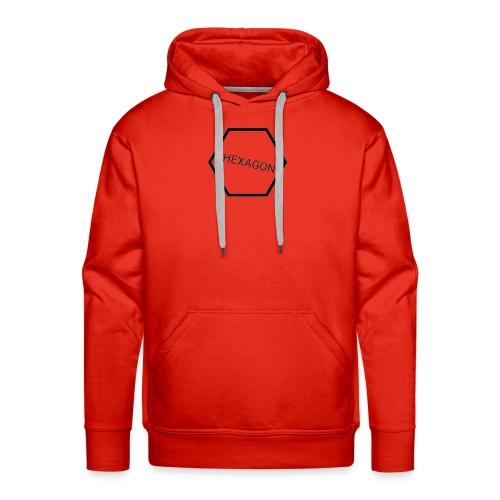 hexagon - Mannen Premium hoodie