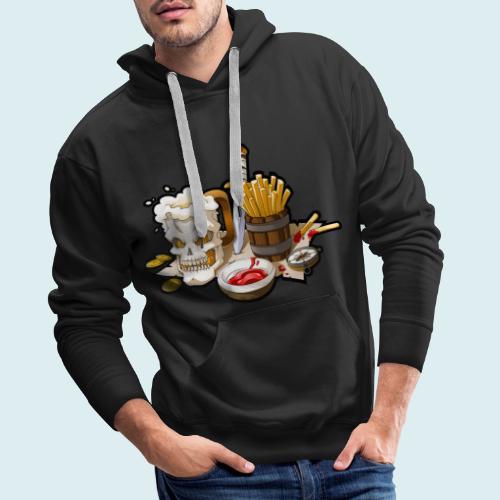 Arr menù - Felpa con cappuccio premium da uomo