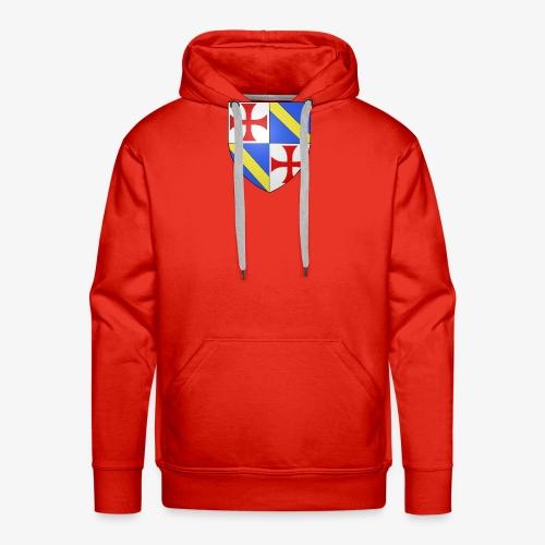 Armoiries Jacques de Molay - Sweat-shirt à capuche Premium pour hommes