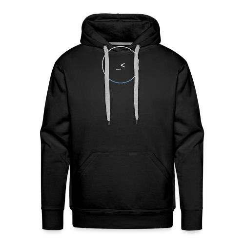 White and white-blue logo - Men's Premium Hoodie