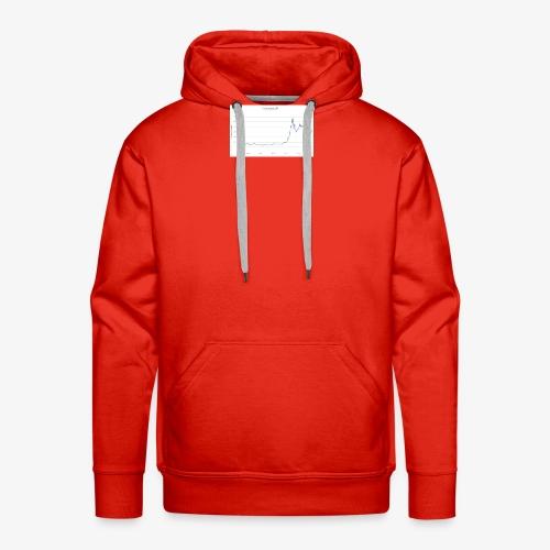 Courbe du prix d'un Bitcoin - Sweat-shirt à capuche Premium pour hommes
