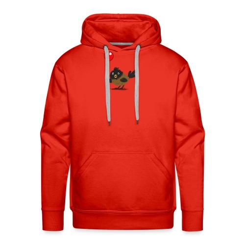 vogeltje met ballon - Mannen Premium hoodie