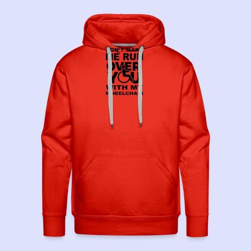 Rolstoel humor 001 - Mannen Premium hoodie