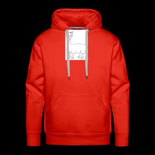 drogué LLama - Sweat-shirt à capuche Premium pour hommes