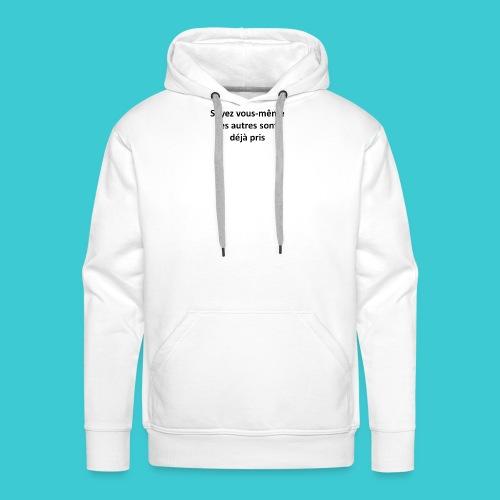 soi meme - Sweat-shirt à capuche Premium pour hommes