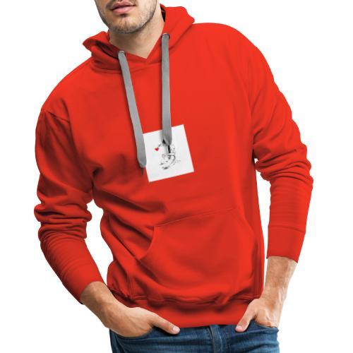 Artiste du coeur - Sweat-shirt à capuche Premium pour hommes