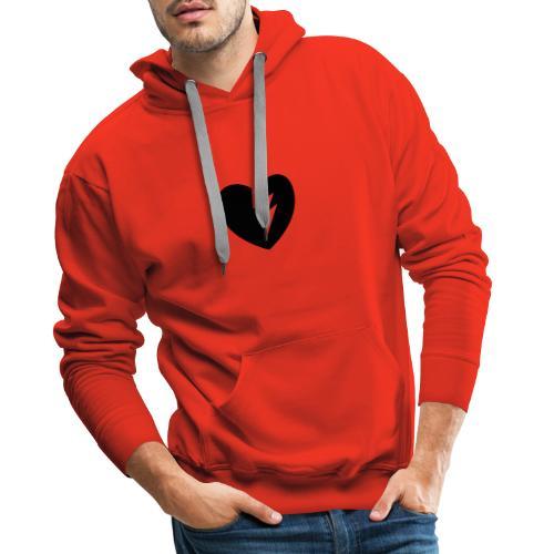 Corazón roto - Sudadera con capucha premium para hombre