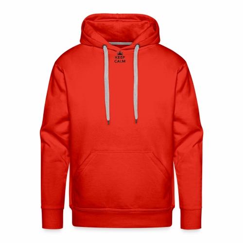 Keep Calm (pluspetit) - Sweat-shirt à capuche Premium pour hommes