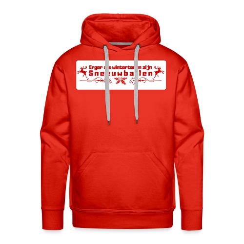 Erger dan wintertenen... - Mannen Premium hoodie