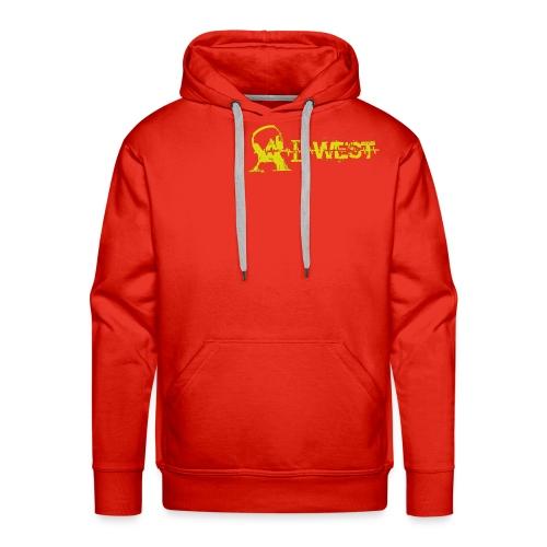 logo alwest jauneorange - Sweat-shirt à capuche Premium pour hommes