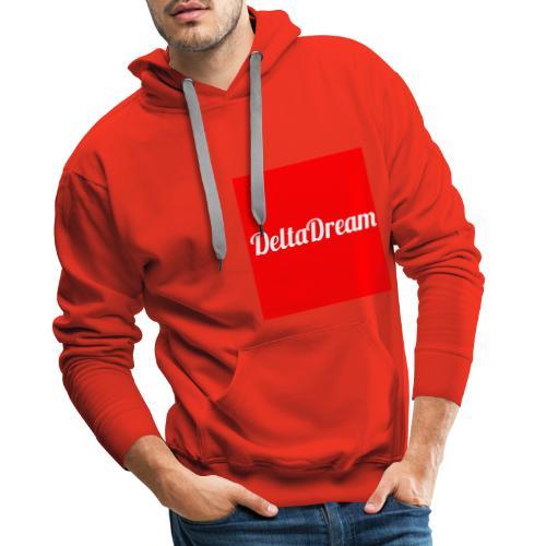 DeltaDream- Original Red - Sweat-shirt à capuche Premium pour hommes