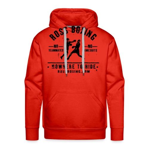 rossboxing black new - Men's Premium Hoodie