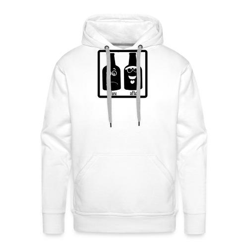 after before - Sweat-shirt à capuche Premium pour hommes