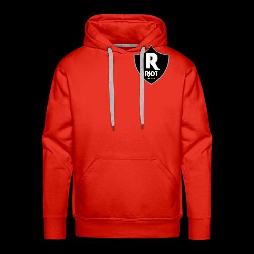 riot Nation logo schwarz - Männer Premium Hoodie
