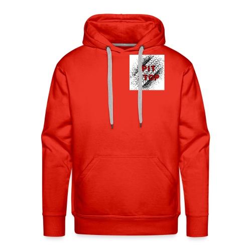 Logo grande - Sudadera con capucha premium para hombre