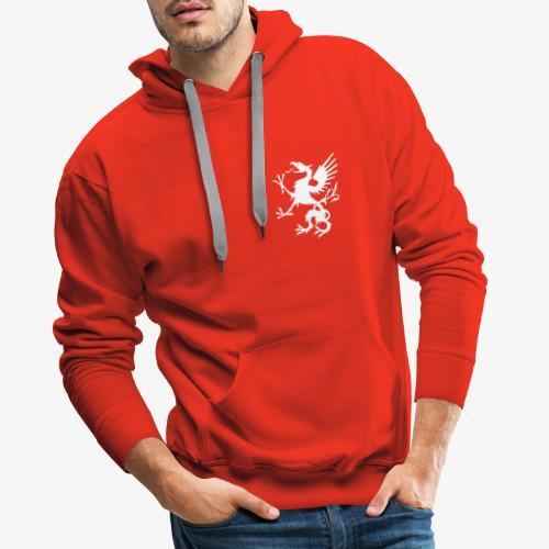griffon blanc - Sweat-shirt à capuche Premium pour hommes