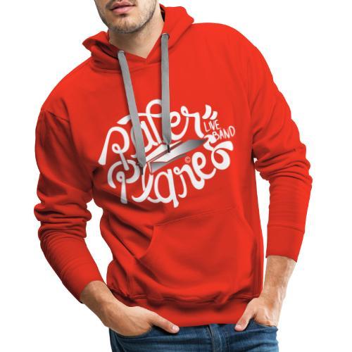Paper Planes Logo Wit - Mannen Premium hoodie