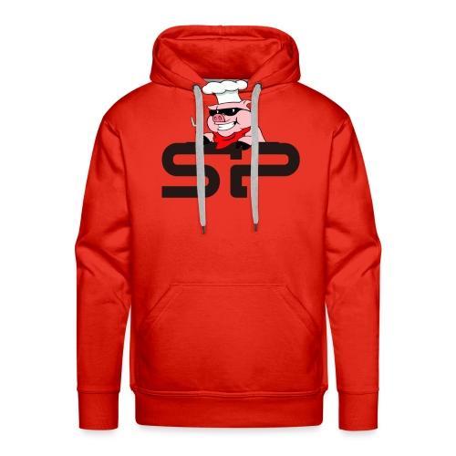 Strangepig's first logo - Premium hettegenser for menn