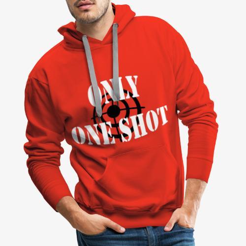 Only one shot - Sweat-shirt à capuche Premium pour hommes