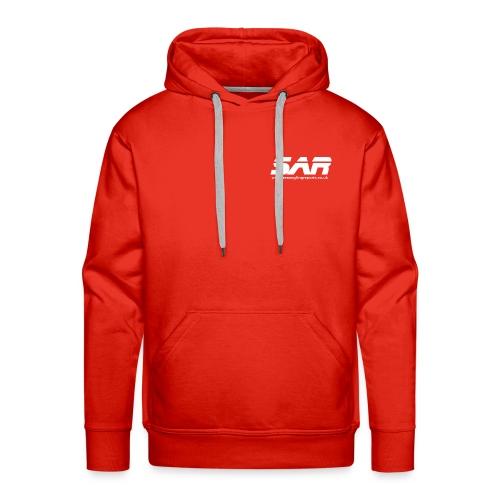 sar logo white ontransparent - Men's Premium Hoodie