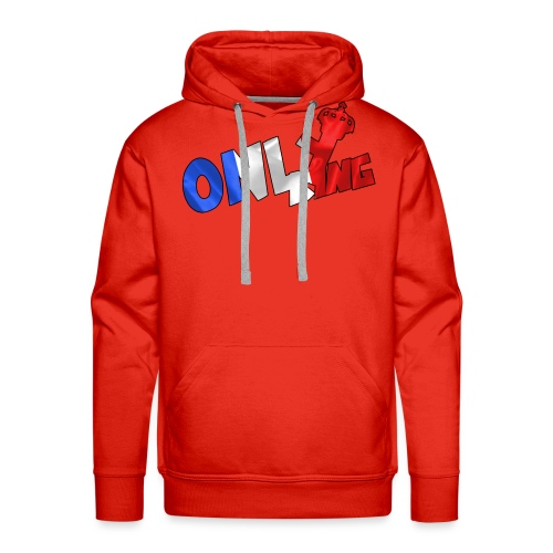 Logo ONLY KING edition francaise - Sweat-shirt à capuche Premium pour hommes