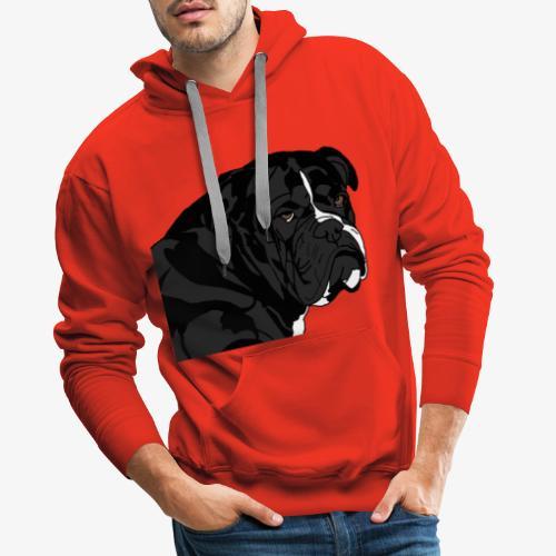 bulldog noir - Sweat-shirt à capuche Premium pour hommes