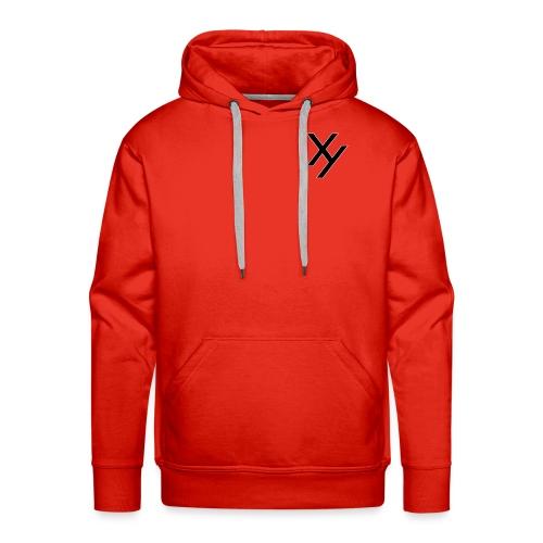 Xy logo black white - Männer Premium Hoodie