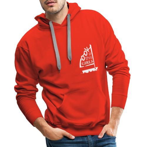 AndriesBik look thisGIRLS shirt witteletters - Mannen Premium hoodie