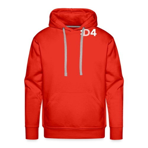 D4 Logo Greyscale - Men's Premium Hoodie