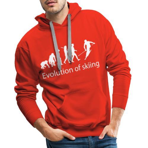 evolution of skiing text - Mannen Premium hoodie