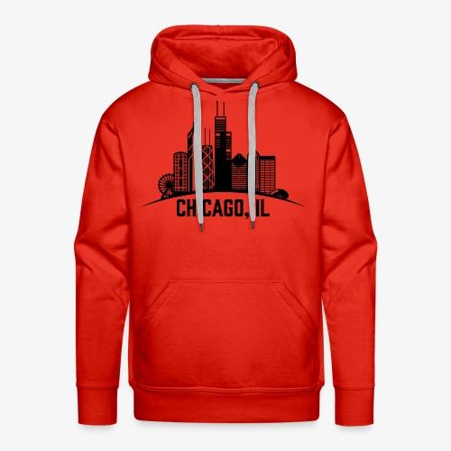 Chicago, IL - Sudadera con capucha premium para hombre
