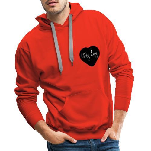 I love my dog - Sweat-shirt à capuche Premium pour hommes