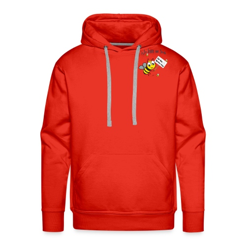 Save the bees with this cute design! Red de bij - Mannen Premium hoodie