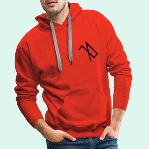 R A B A L E. decide / logo noir. - Sweat-shirt à capuche Premium pour hommes