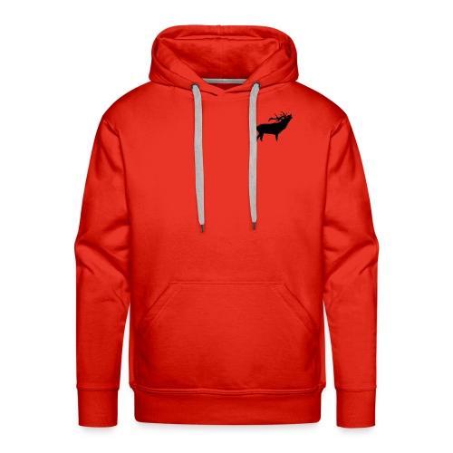 cerf - Sweat-shirt à capuche Premium pour hommes