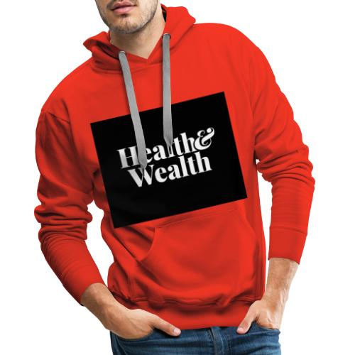 Wealth & Wealthy - Sudadera con capucha premium para hombre