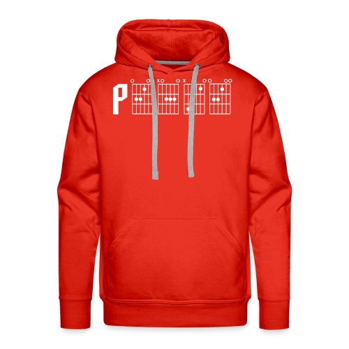 Peace through the power of a guitar chord - Men's Premium Hoodie