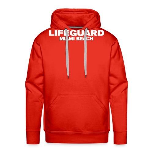 life guard miami - Sweat-shirt à capuche Premium pour hommes