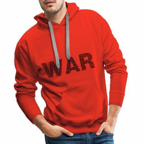 Napis stylizowany War and Peace - Bluza męska Premium z kapturem