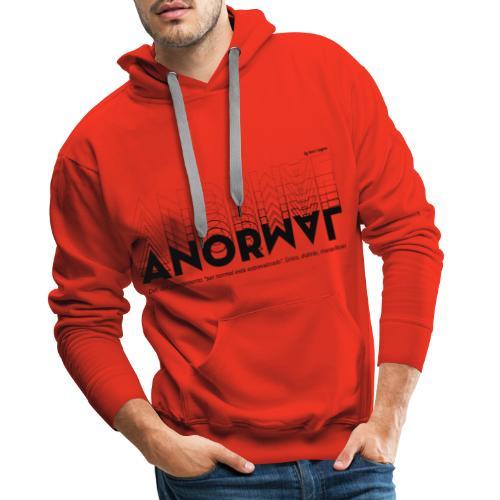 ANORMAL negro - Sudadera con capucha premium para hombre